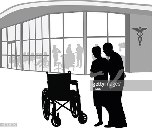 helping the elderly - weakness stock illustrations