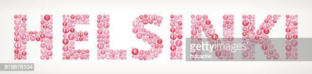 helsinki women's rights  vector buttons - helsinki stock illustrations, clip art, cartoons, & icons