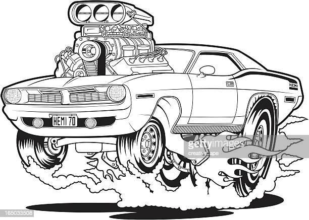 hemi-70 - fire ape stock-grafiken, -clipart, -cartoons und -symbole