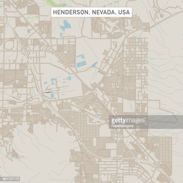 henderson nevada us city street map - henderson nevada stock illustrations