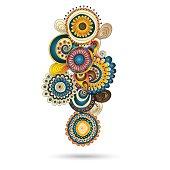 Henna and paisley mehndi doodles