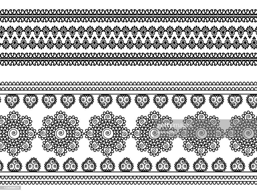 Henna border design