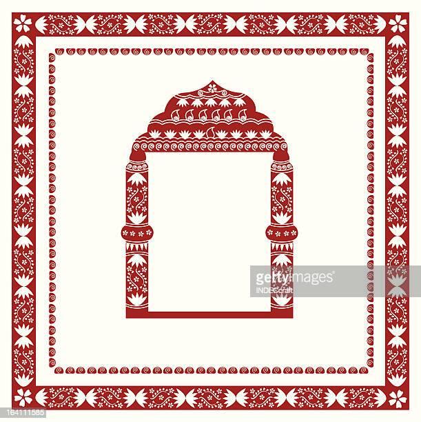 ilustraciones, imágenes clip art, dibujos animados e iconos de stock de henna frontera con ventana - etnia del subcontinente indio