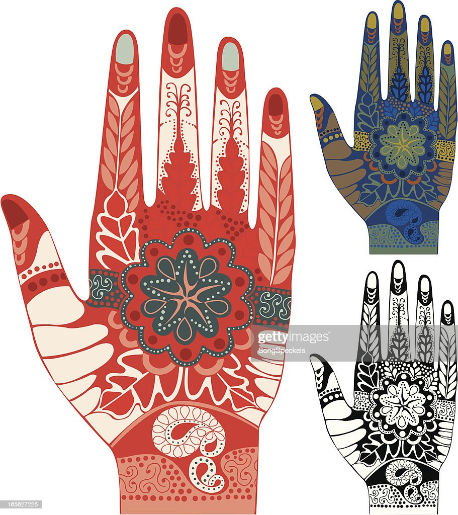 Henna decorated hands