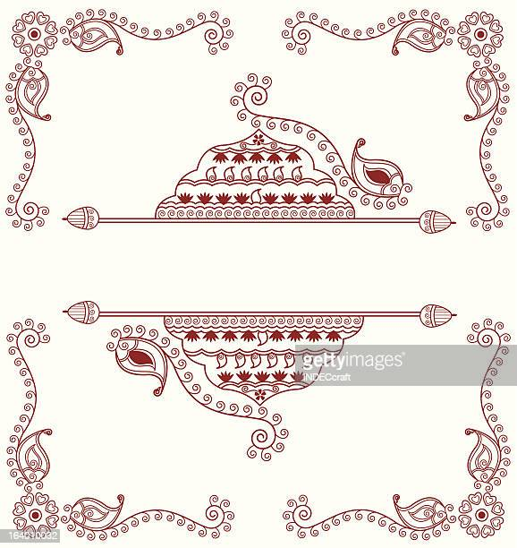 henna design template
