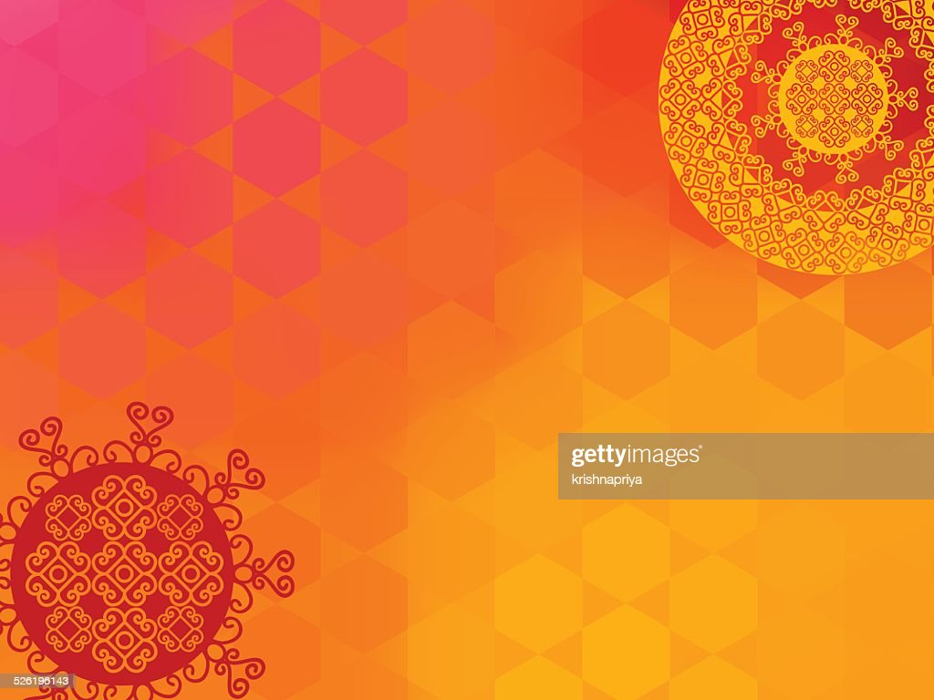 Henna Mandala Background with copy space