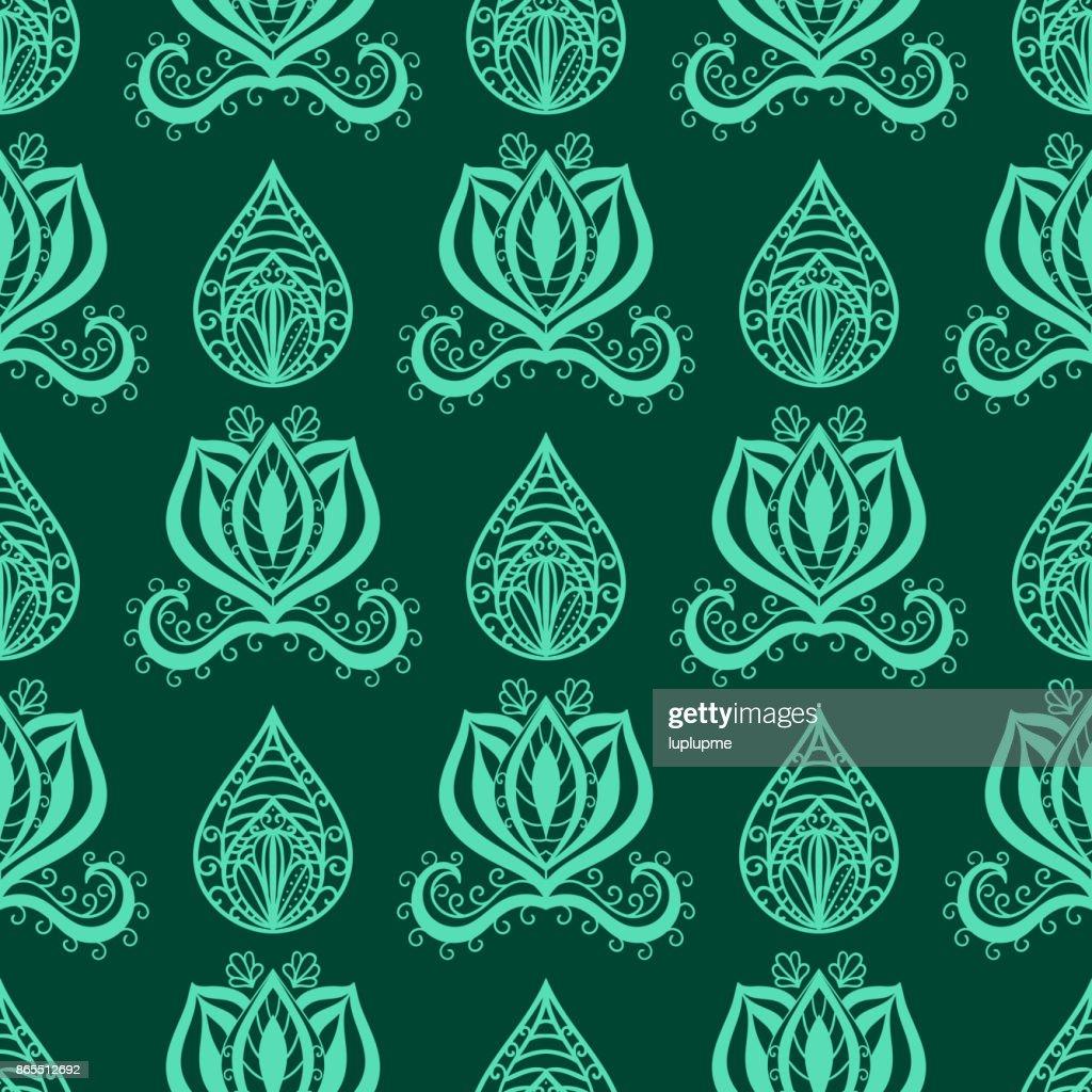 Henna Tattoo Brown Mehndi Flower Doodle Ornamental Decorative Indian