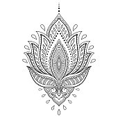 Lotus flower tattoo outline clip art download 1000 clip arts page henna tattoo flower template in indian style ethnic paisley lotus mightylinksfo