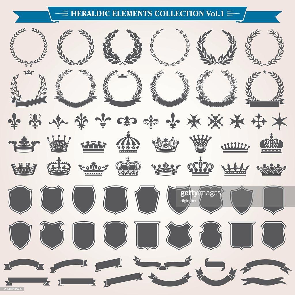 Heraldic Elements Set 1