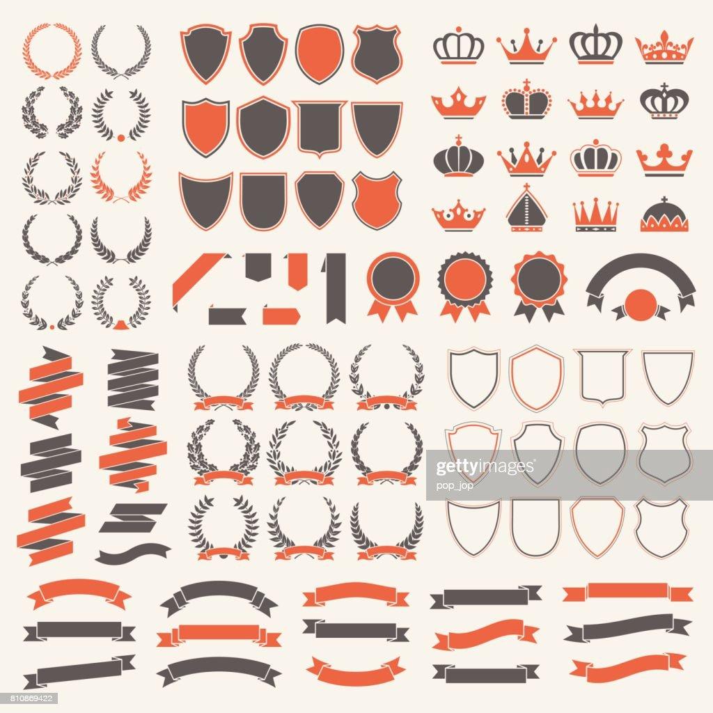 Heraldic Elements Set - Illustration