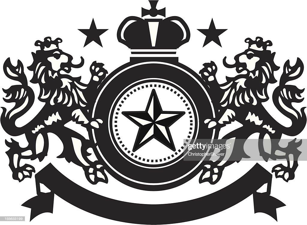Heraldic Lion Crest 4