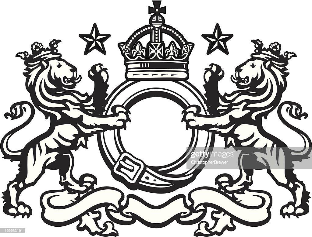Heraldic Lion Crest 5