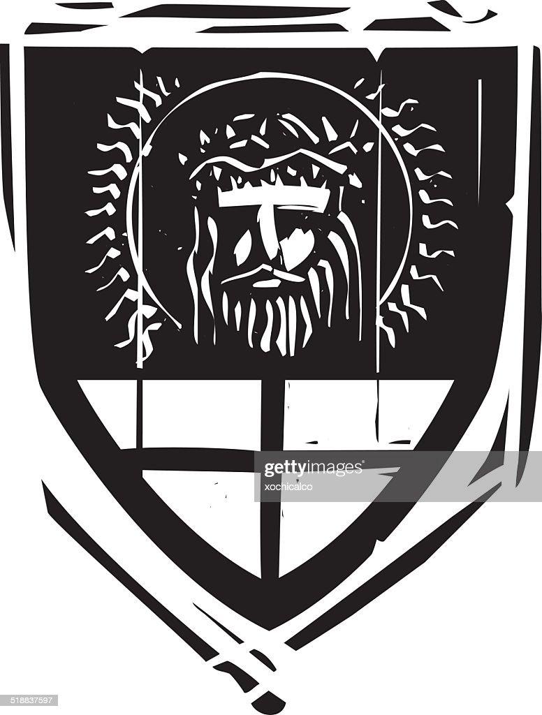 Heraldic Shield Christ