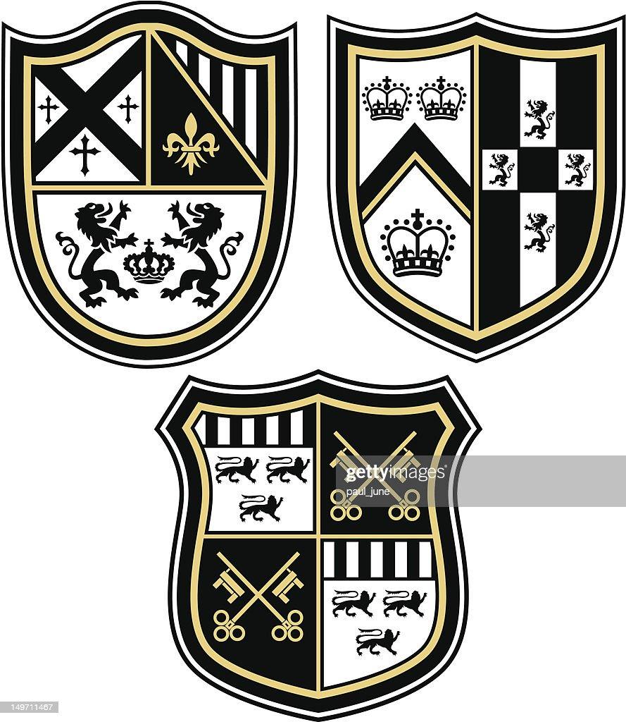 heraldic shield design