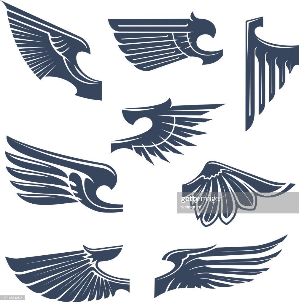 Heraldic wings for coat of arms design