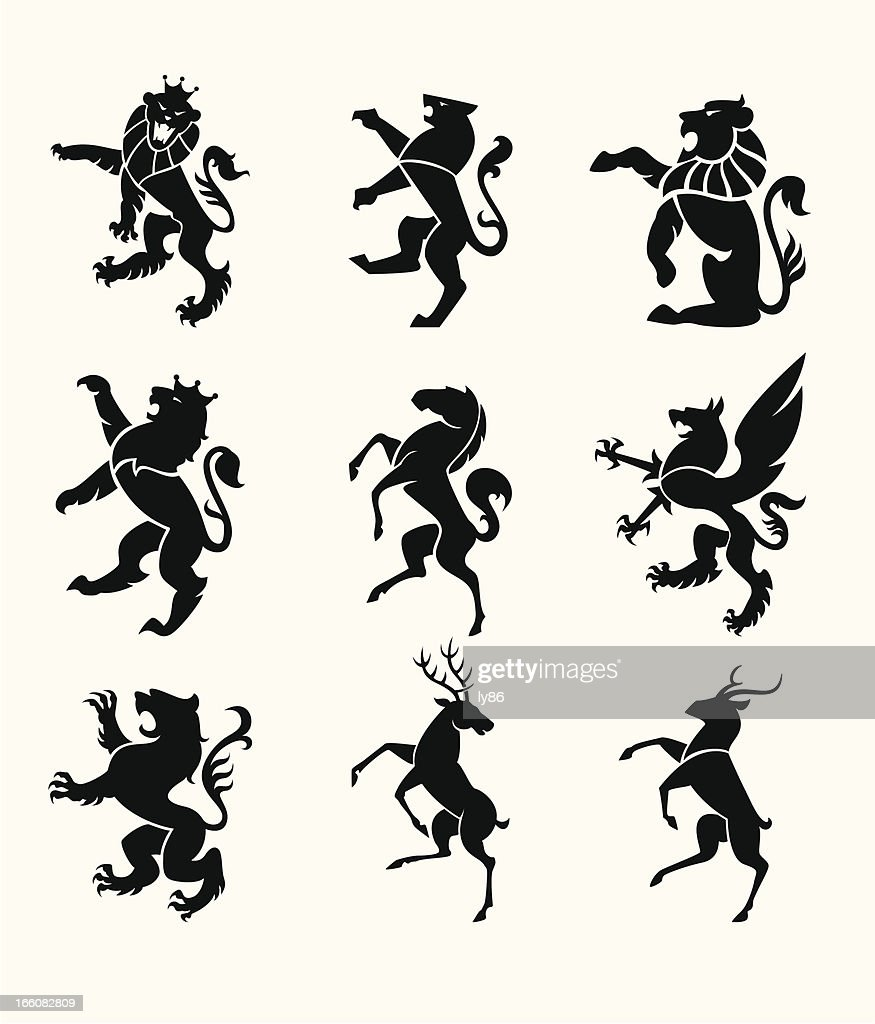 Heraldry animals