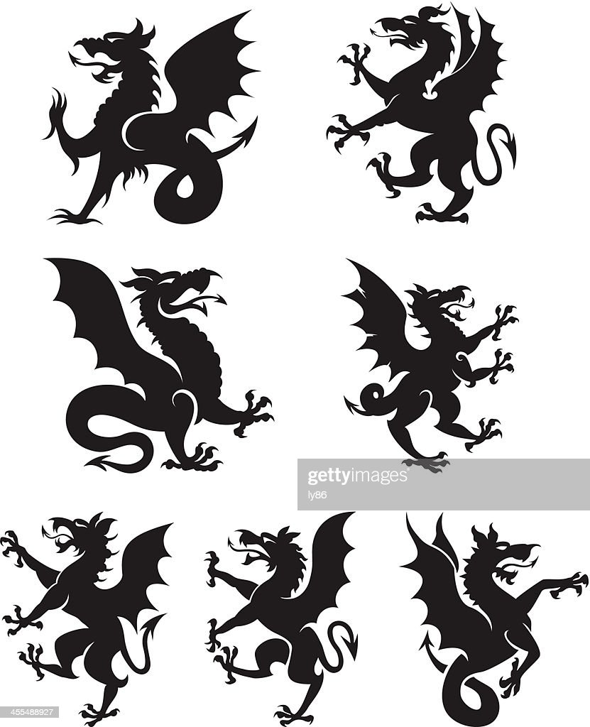 Heraldry dragons