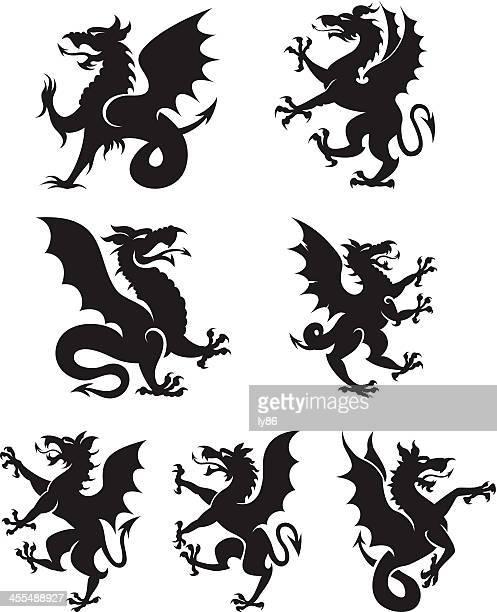 Heraldry dragons