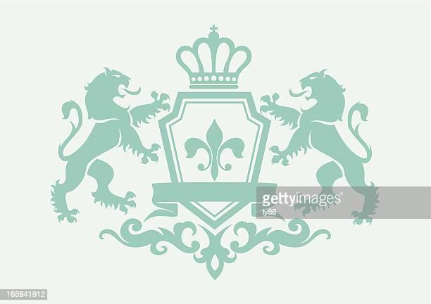 Heraldry lion crest