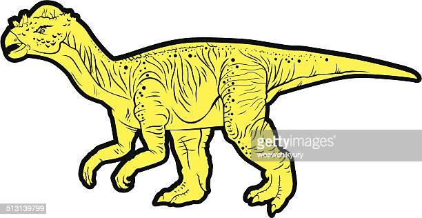 Pflanzenfressend Dinosaurier (Pachycephalosaurus)