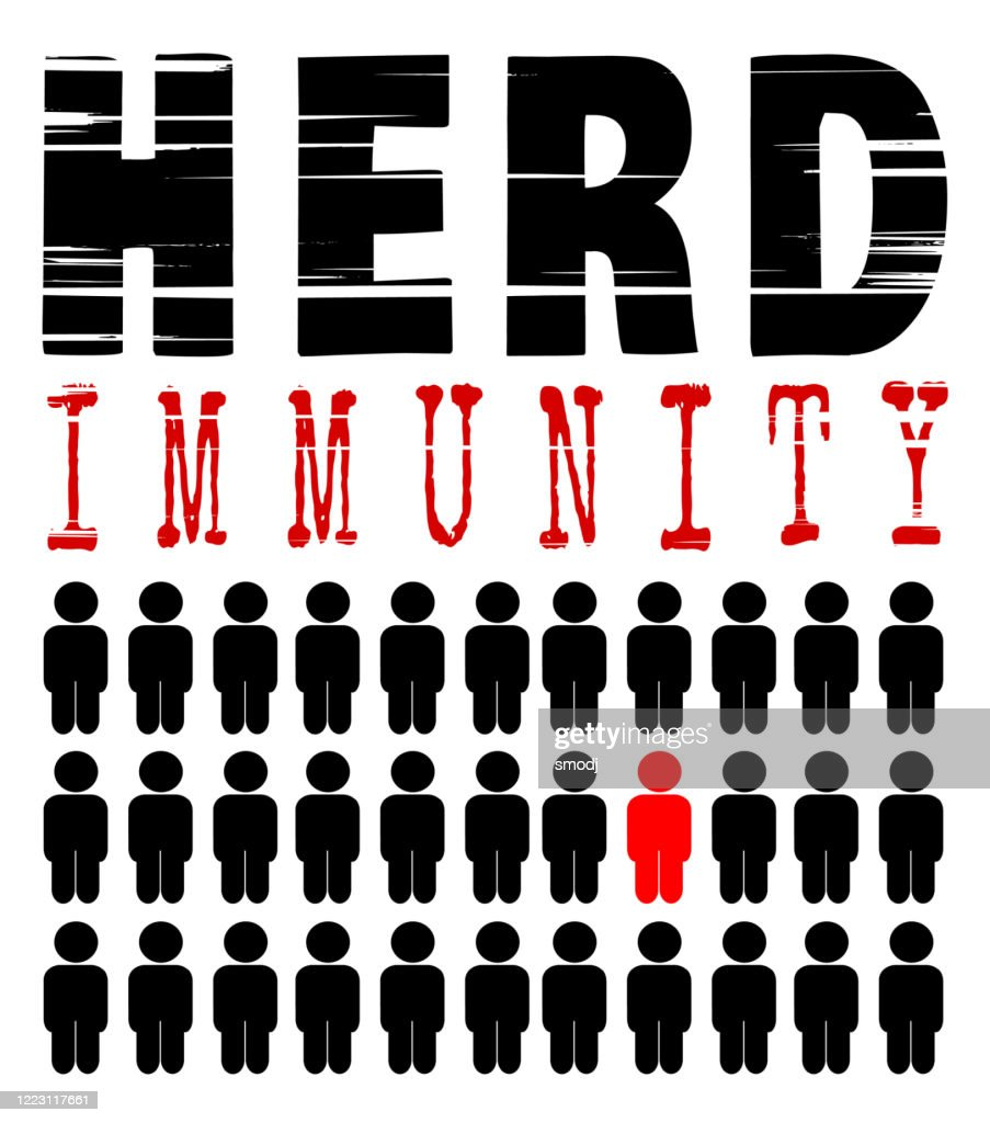 Herd immunity : stock illustration