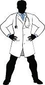Hero Doctor Silhouette