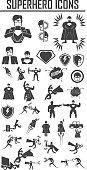 hero superhero icons . illustration vector EPS 10, Big pack