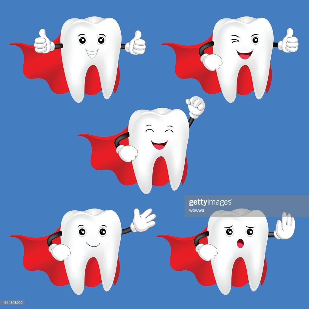 Hero teeth character set.