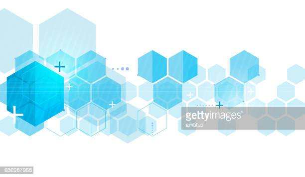 hexa tech - hexagon stock illustrations