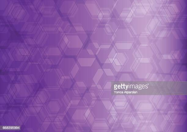 hexagon abstract background - purple background stock illustrations, clip art, cartoons, & icons