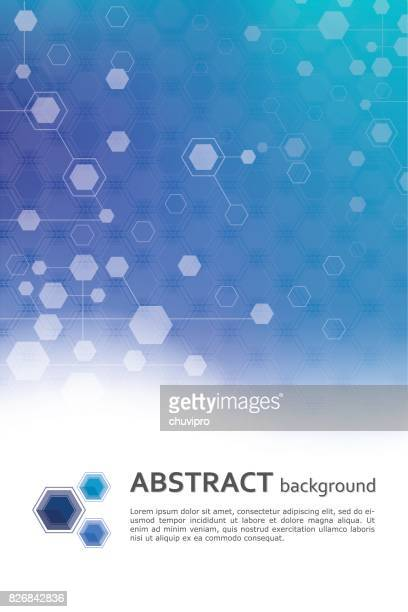 Hexagon abstract scientific and medicine geometric background template