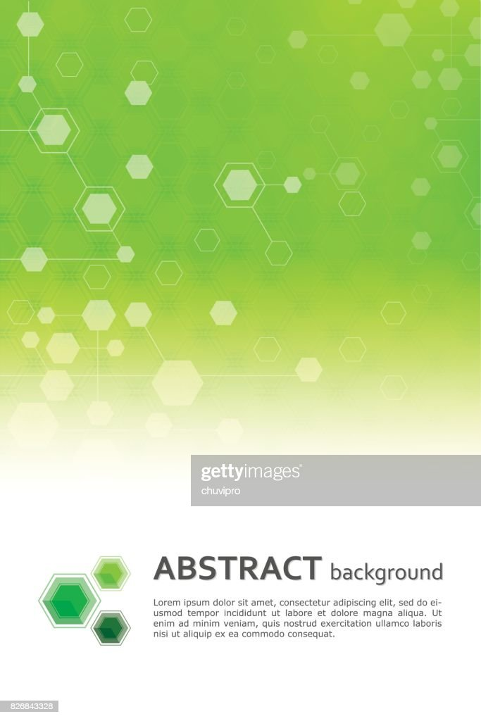 Hexagon abstract scientific and medicine geometric background template : stock illustration
