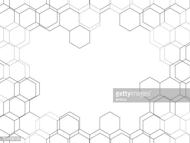 hexagon background - construction frame stock illustrations