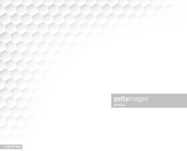 hexagon emboss corner - brocade stock illustrations