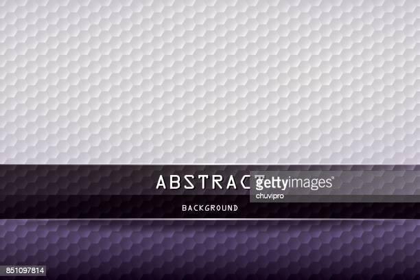 Horizontal fond géométrique à six pans creux - gris, violet, noir