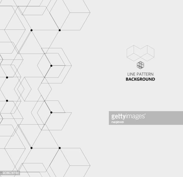 illustrations, cliparts, dessins animés et icônes de hexagone ligne structure impression de fond - ruche