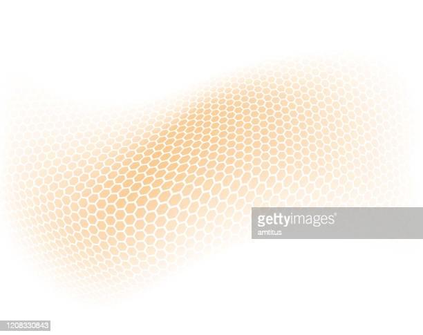 sechseck-orange-muster - weichheit stock-grafiken, -clipart, -cartoons und -symbole