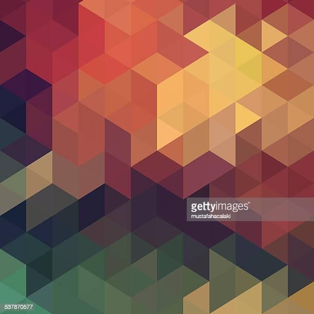 六角形レトロなビンテージベクトルの背景