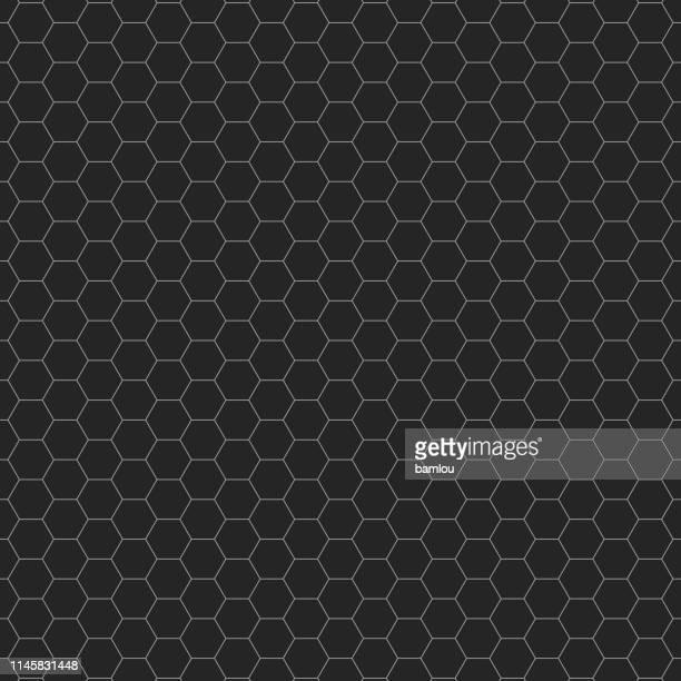 hexagon seamless pattern background - grid stock illustrations, clip art, cartoons, & icons