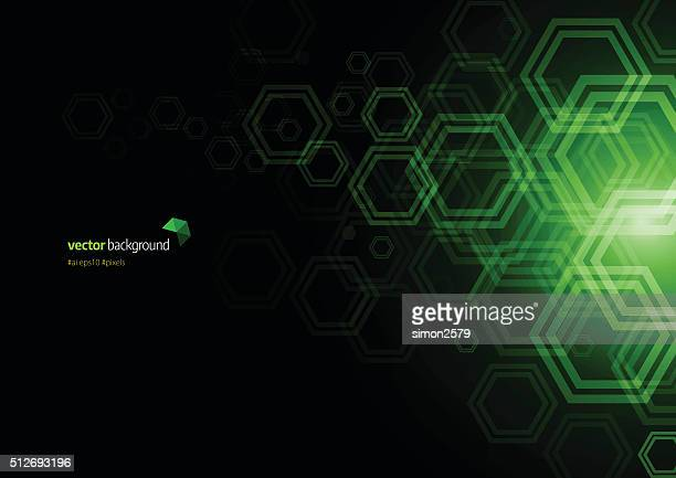Hexagon Shape Abstract Background