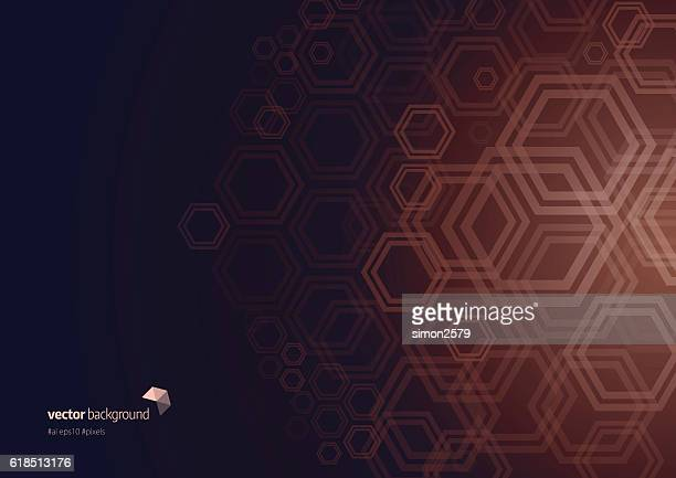 hexagon shape abstract background - brown background stock illustrations