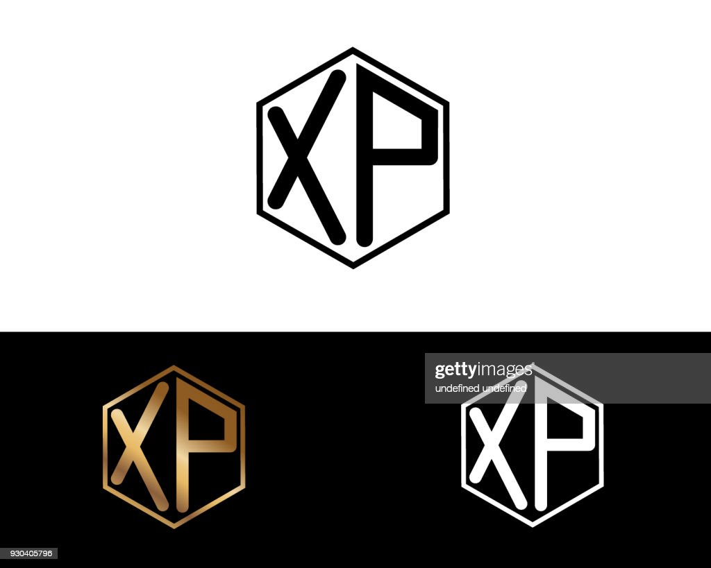XP hexagon shape letters Design