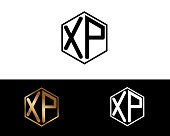 XP hexagon shape letters Design