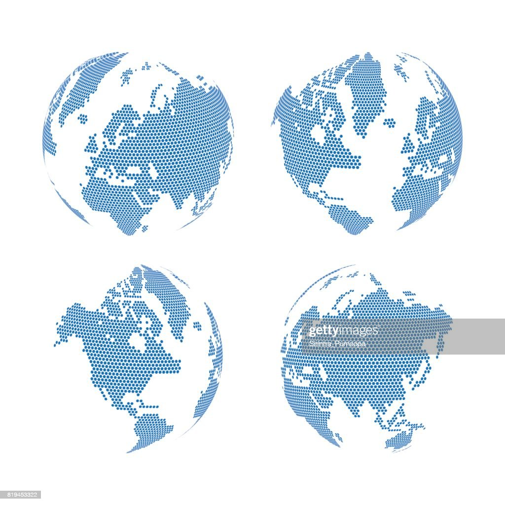 Hexagon shape world map on the gradient white background vector hexagon shape world map on the gradient white background vector illustration vector art gumiabroncs Gallery