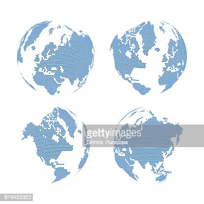 Hexagon shape world map on the gradient white background vector hexagon shape world map on the gradient white background vector illustration vector art getty images gumiabroncs Choice Image