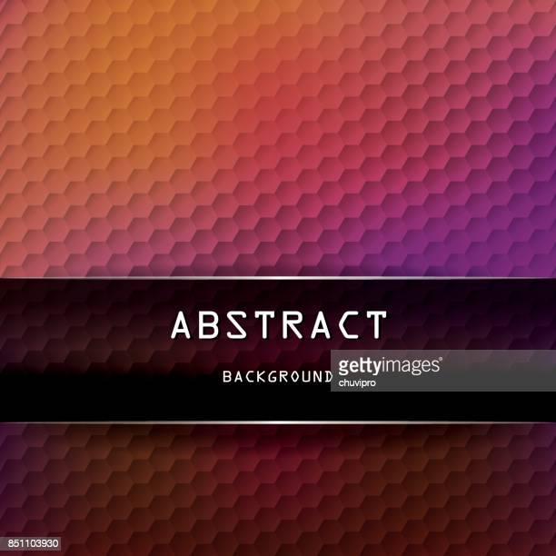 hexagon square geometric background - yellow, orange, pink, black - pink background stock illustrations, clip art, cartoons, & icons