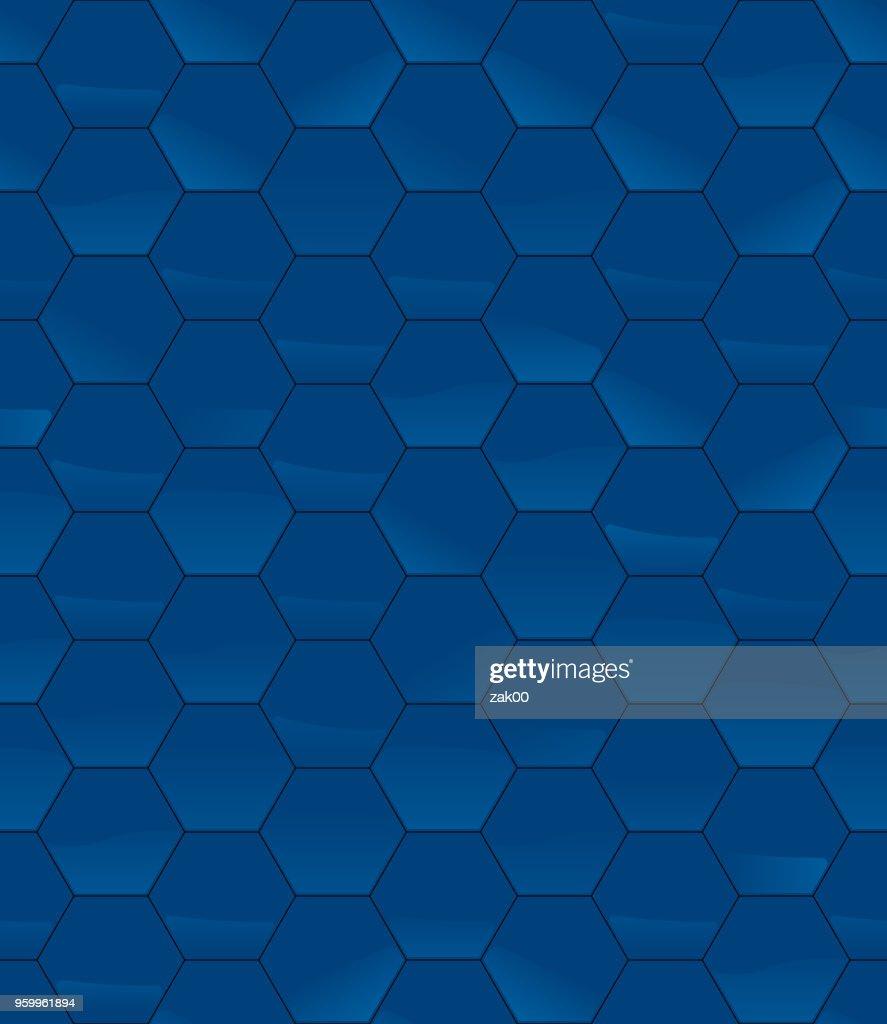 Sechseck Fliesen Vektormuster glänzend : Stock-Illustration