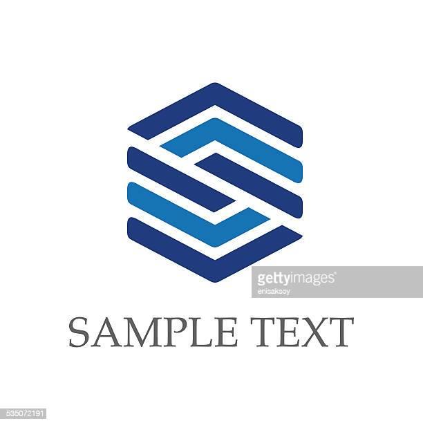hexagon - letter s stock illustrations, clip art, cartoons, & icons