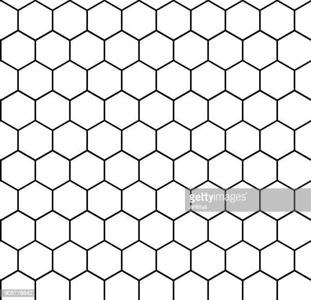 hexagon - grid stock illustrations, clip art, cartoons, & icons