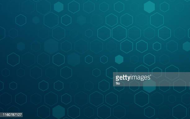 hexagonal abstract background - cryptocurrency stock illustrations
